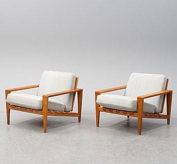 SVANTE SKOGH, fåtöljer ett par, Engens Möbelfabrik, Örkelljunga, troligen 1960-tal.
