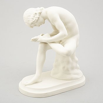 A parian sculpture 'Törndragare' after G.E 1901, Gustavsberg 1913.