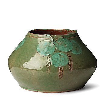 49. Hilma Persson-Hjelm, an Art Nouveau glazed earthenware bowl, Rackstad, Värmland Sweden early 20th Century.