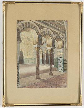 F. LIGER, akvarell, signerad och daterad 1926 a tergo.