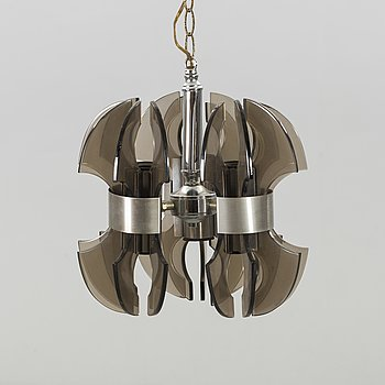 An Italian ceiling lamp for three lights, late 20th century.