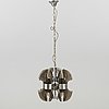 An italian ceiling lamp for three lights, late 20th century