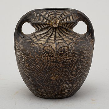 a jugend earthenware vase from the early 20th century.