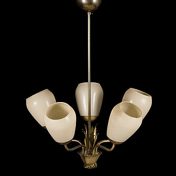 A mid-20th Century pendant ceiling light manufactured by Idman.