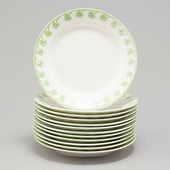 "GUNNAR WENNERBERG, 12 porcelain plates, ""Gunnar"", Gustafsberg 1905-1909."
