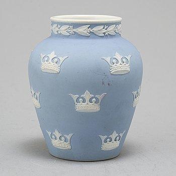 GUNNAR WENNERBERG, a jasperware vase, gustavsberg around 1900.