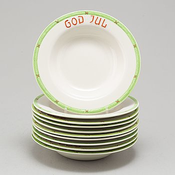 10 porcelain bowls, Rörstrand second half of the 20th century.