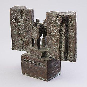 KARI JUVA, skulptur, brons, signerad och daterad -84.