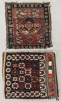 VÄSKA SAMT VÄSKFRAMSIDA Kurdistan semiantika/antika ca 59 x 55 samt 56 x 48 cm.