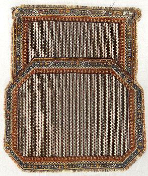 A semiantique West Iran saddle cover ca 108 x 97 cm.