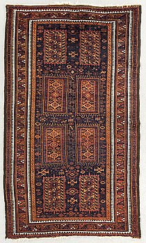 An antique Beludj Temuri carpet ca 193 x 100 cm.