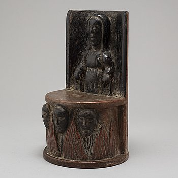 A possibly 17th century wooden collect box.