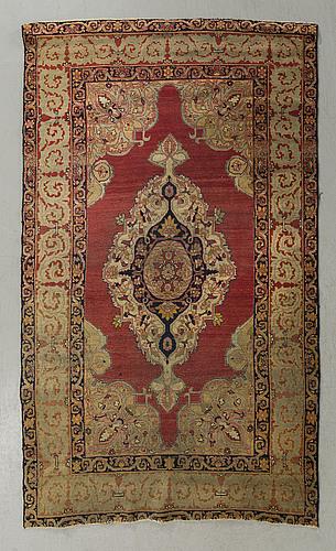 Matta persisk antik 1800 talets andra hälft ca 182 x 112 cm