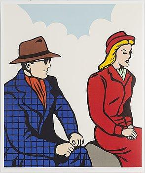 JAN HÅFSTRÖM, färglitografi, signerad, numrerad 1426/2000, daterad 2003.