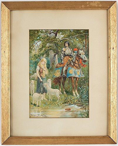 Jenny nyström, the knight and the shepherdess.