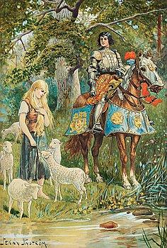 39. Jenny Nyström, The knight and the shepherdess.