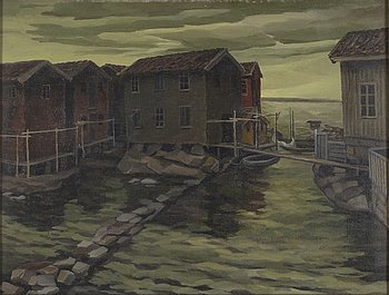 GUNNAR LÖBERG, oil on canvas, signed G. Löberg and dated 1929 on frame.