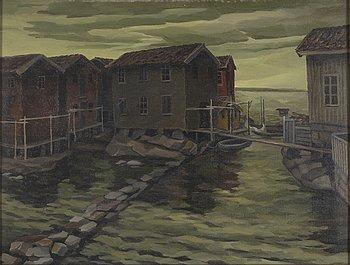 GUNNAR LÖBERG, olja på duk, signerad G. Löberg och daterad 1929 i blyerts på spännram.