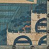 """Utagawa hiroshige (1797 1858), after, color woodblock print. japan, from """"the storehouse of loyal retainers"""", 1835 39"""
