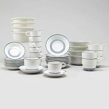 "A 1970/80s tableware set of 21 pcs, ""Dart"" by Stig Lindberg for Gustavsberg."