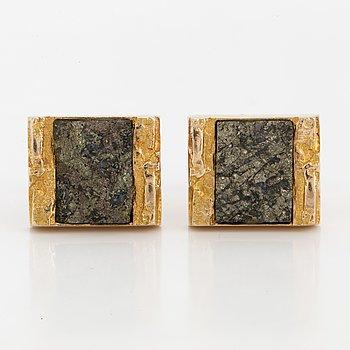 LAPPONIA, Manschettknappar, 14K guld, kopparmalm. 1969.