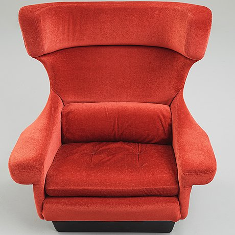 Hans erik johansson, attributed to, an easy chair, sweden 1960-70's.