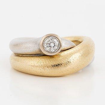 OLE LYNGGAARD, Ring, 'Fidelity' med briljant.