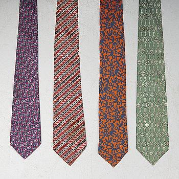HERMÈS, four ties.