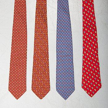 SALVATORE FERRAGAMO, four ties.