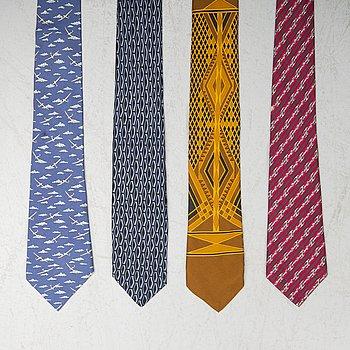 HERMÈS, fyra slipsar.