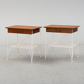 a pair of 1950's bedside tables.