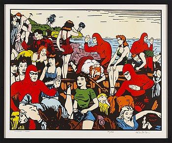 CARL JOHAN DE GEER, färglitografi, signerad och numrerad 89/290.