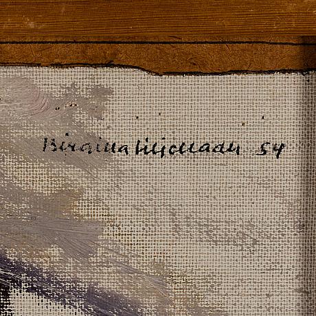 Birgitta liljebladh, oil on canvas laid down on panel, signed birgitta liljebladh and dated  54