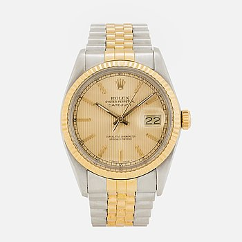 """ROLEX, Oyster Perpetual, Datejust, """"Tapestry dial"""", (T Swiss Made T), Chronometer, armbandsur, 36 mm."""