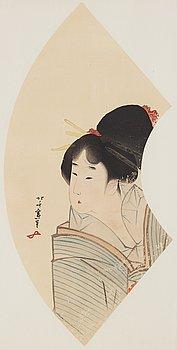 KATSUSHIKA HOKUSAI (1760–1849), after, color woodblock print. Japan, 19th century.