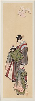 KATSUSHIKA HOKUSAI (1760–1849), after, color woodblock print, Japan, late 19th/early 20th century.