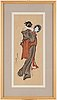 Katsushika hokusai (1760–1849), after, color woodblock print. japan, presumably 20th century