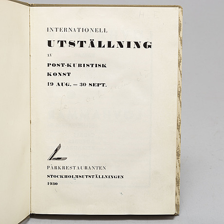 Bok, stockholmsutställningen 1930.