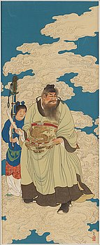 UNKNOWN ARTIST, depicting Shoki the Demon Queller, Japan, circa 1900.