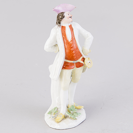 Figurin, porslin, meissen 1700 tal. modell av johann joachim kÄndler 1706 1775