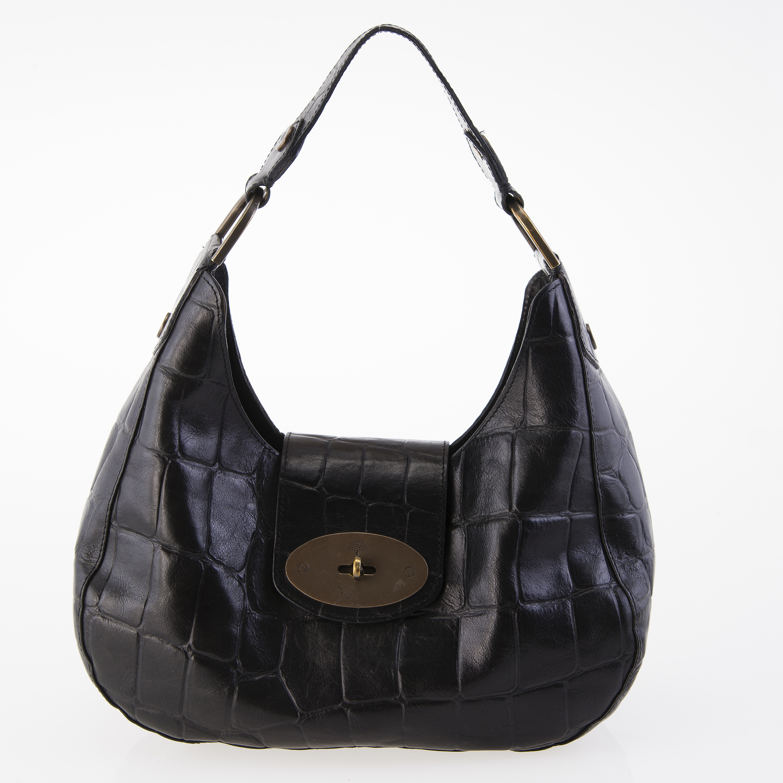 0ce6cac7297 MULBERRY Black Congo Leather Shoulder Bag. - Bukowskis