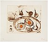 Miquel barcelÓ, aquatint, 1990, signed in pencil and numbered 25/35.