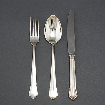 a 36-piece set of silver cutlery 'Chippendale', GAB, second half of the 20th century.