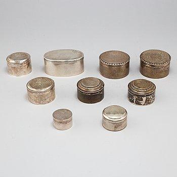 DOSOR, 9 st, silver, Sverige, 1790-1915.