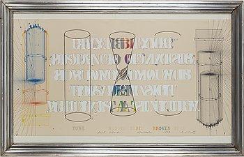 SHUSAKO ARAKAWA, färgserigrafi, signerad, daterad -78, numrerad 21/38.