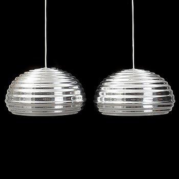 """A pair Achille Castiglioni  """"Splügen Bräu"""", Flos ceiling lamps."""