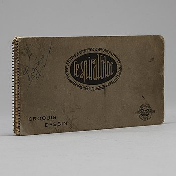 JOHANNES RIAN, sketch book, dated Paris, May 1929.
