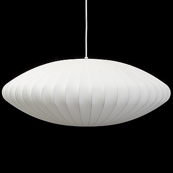A 'Nelson Saucer Bubble' ceiling light by George Nelson, Herman Miller.