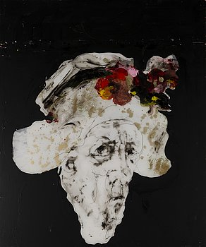 KIRSTI TUOKKO,  acrylic on plexi glass, a tergo signed and dated 2016.