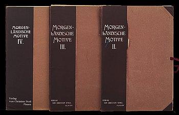 E W ALBRECHT  MORGONLÄNDISCHE MOTIVE: Original-Teppiche -Stoffe u. -Stickereien I-IV, 1 ed, 1907-09.